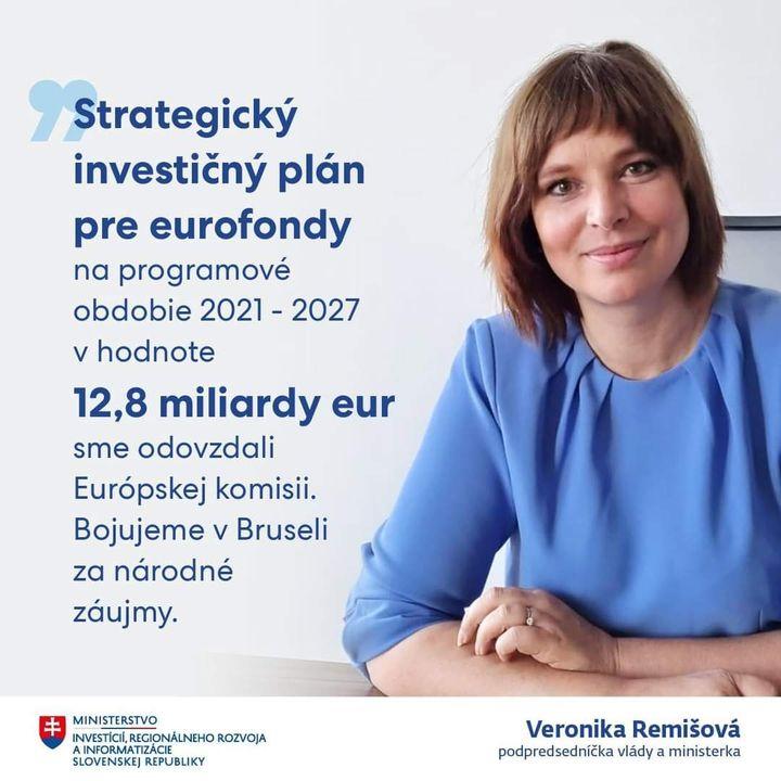 📑 OPERAČNÝ PROGRAM SLOVENSKO SME POSLALI DO BRUSELU 🇪🇺 Plán na čerpanie 12,8 miliardy eur z nových eurofondov je pripravený ✅  V…